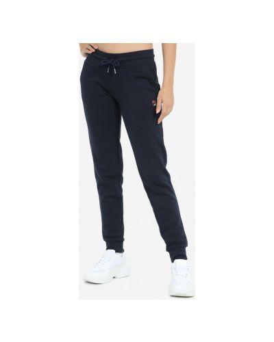 Прямые трикотажные брюки с поясом Fila