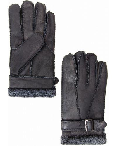 Перчатки темно-синий из овчины Finn Flare
