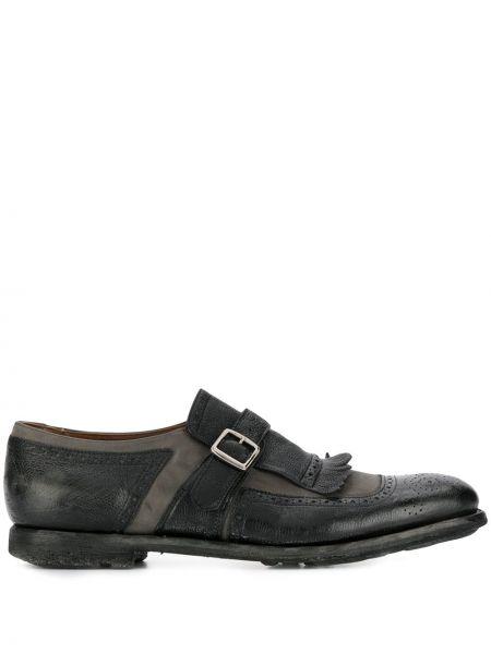 Серые кожаные монки на каблуке Church's