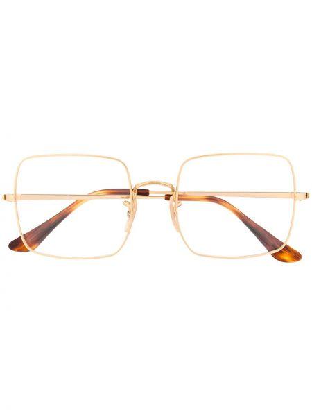 Prosto brązowy oprawka do okularów metal plac Ray-ban
