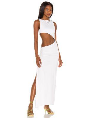 Платье с разрезом - белое Agua Bendita