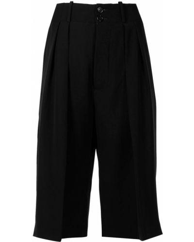 Черные шорты с карманами свободного кроя Plan C