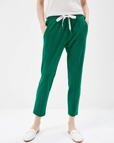 Зеленые брюки льняные Imperial