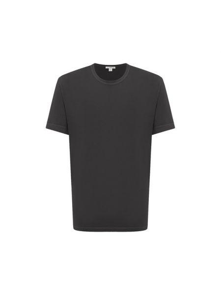 Хлопковая футболка - серая James Perse