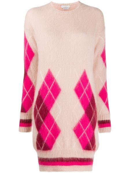 Платье макси с длинными рукавами - розовое Ballantyne