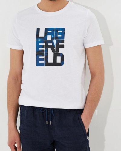 Белая футболка Lagerfeld