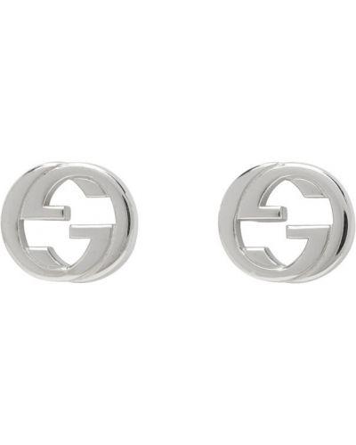 Серьги серебряные с логотипом Gucci