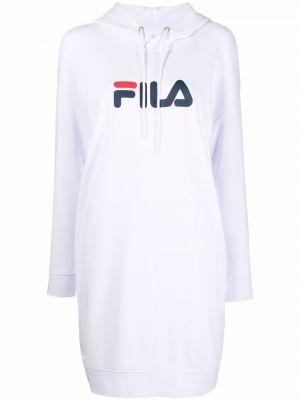 Платье макси с длинными рукавами - белое Fila