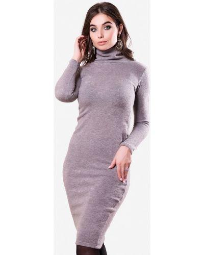 Платье серое осеннее Sfn