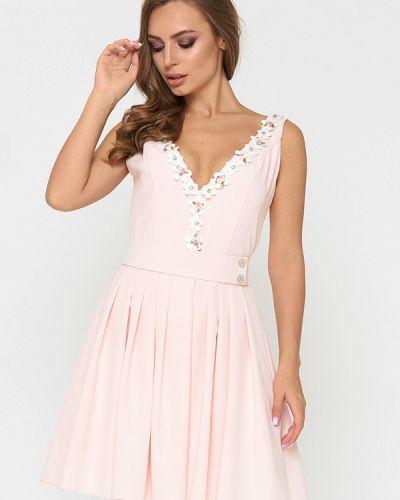 Платье миди весеннее розовое Sellin
