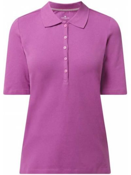 T-shirt bawełniana - różowa Tom Tailor