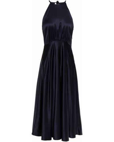 Открытое синее платье миди с открытой спиной SamsØe Φ SamsØe