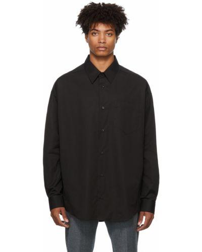 Koszula z długimi rękawami - czarna Ami Alexandre Mattiussi