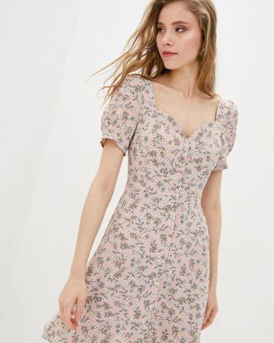 Прямое розовое платье А-силуэта 7arrows