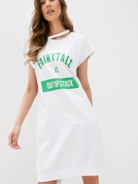Белое футбольное платье Sh