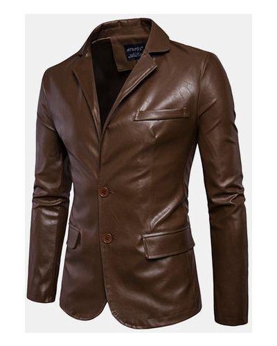 Черная кожаная куртка байкерская Newchic