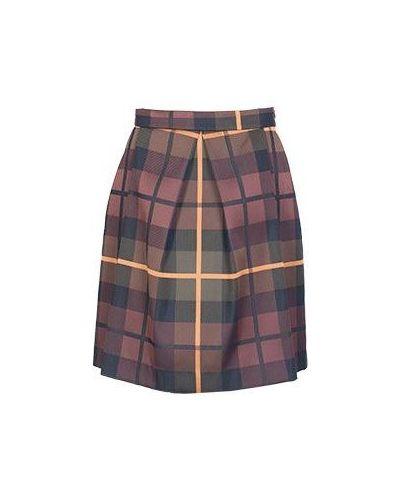 Коричневая юбка миди P.a.r.o.s.h.