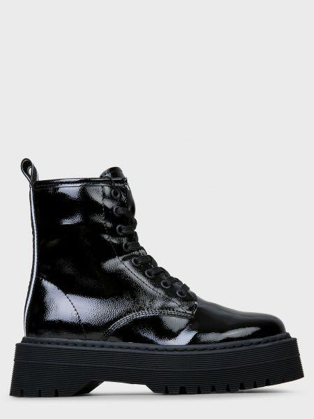 Кожаные ботинки - черные Armani Exchange