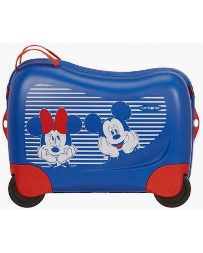 Синий зимний чемодан Samsonite