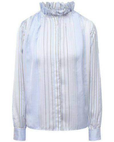 Шелковая блузка - синяя Forte_forte