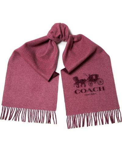 Шарф бордовый красный Coach