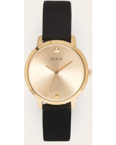 Złoty zegarek kwarcowy z paskiem Guess