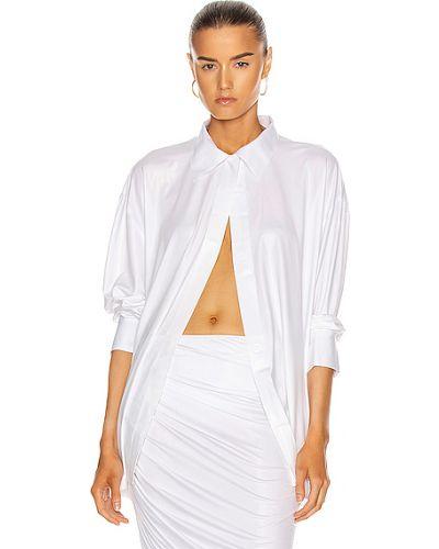 Biała koszula do pracy na rzepy Norma Kamali