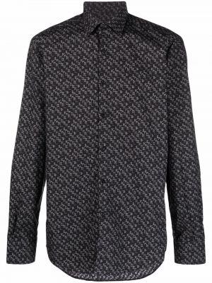 Klasyczna koszula - czarna Karl Lagerfeld