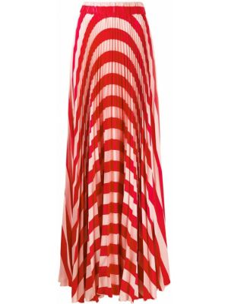 Плиссированная розовая юбка макси на резинке Black Coral