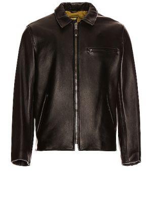 Черная кожаная куртка с подкладкой Schott