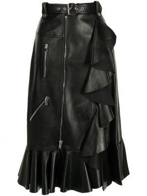 Черная шелковая юбка Alexander Mcqueen