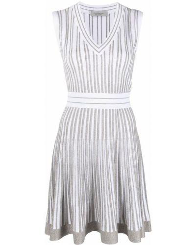 Белое платье без рукавов с V-образным вырезом D.exterior