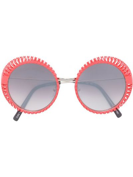 Прямые муслиновые розовые солнцезащитные очки круглые Oxydo