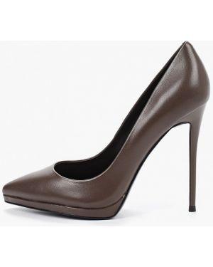 Туфли на каблуке кожаные лодочки Paolo Conte