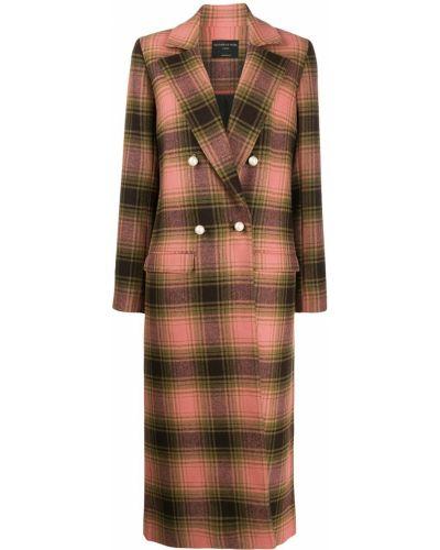 Коралловое шерстяное длинное пальто Mother Of Pearl