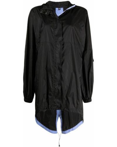 Klasyczny czarny płaszcz przeciwdeszczowy z długimi rękawami Mcq