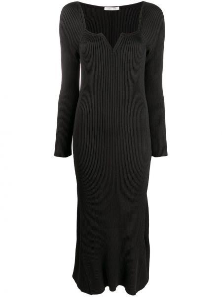 Платье макси длинное - черное Bevza