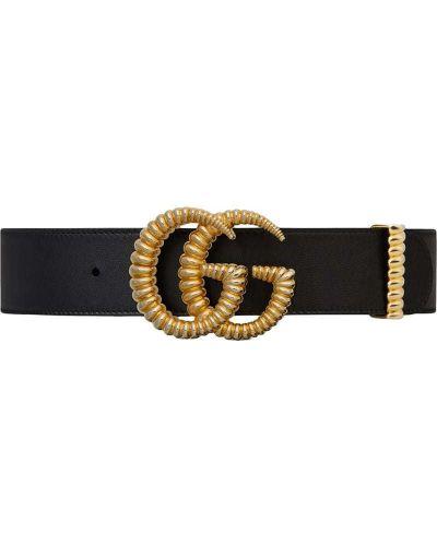 Ремень кожаный с логотипом Gucci
