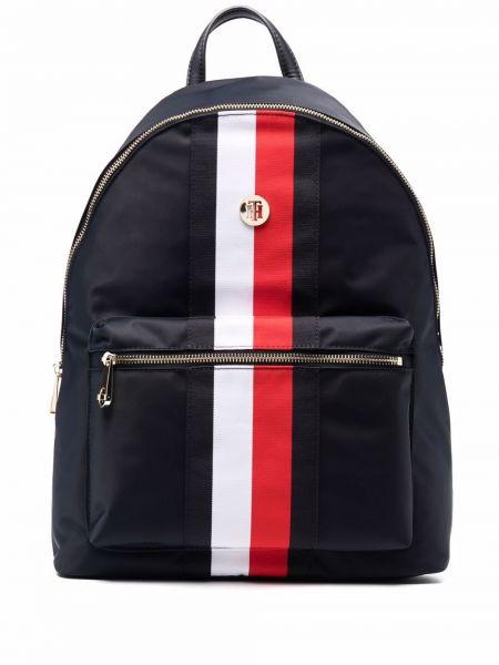 Синий рюкзак с нашивками Tommy Hilfiger