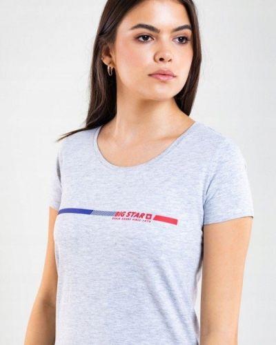 Bawełna szary bawełna t-shirt Big Star