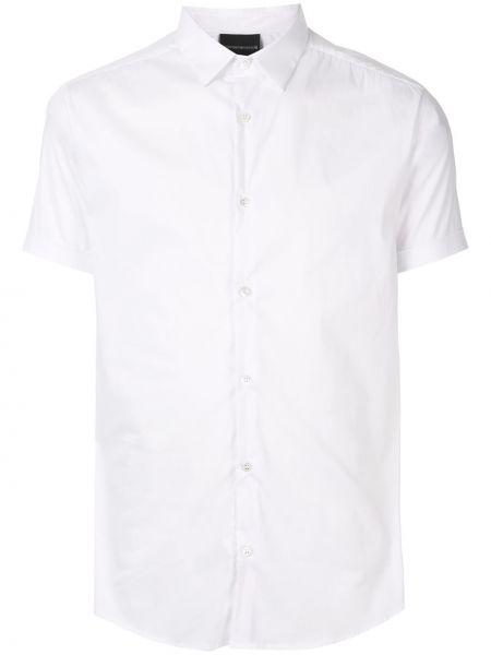 Koszula krótkie z krótkim rękawem klasyczna z kołnierzem Emporio Armani