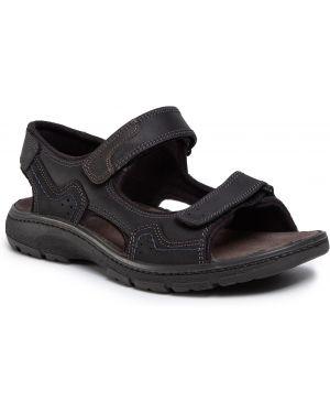 Sandały skórzany czarny Imac