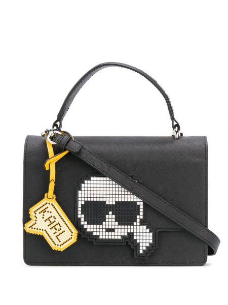 Кожаная сумка сумка-тоут на плечо Karl Lagerfeld