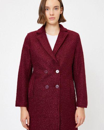 Красное пальто двубортное Koton