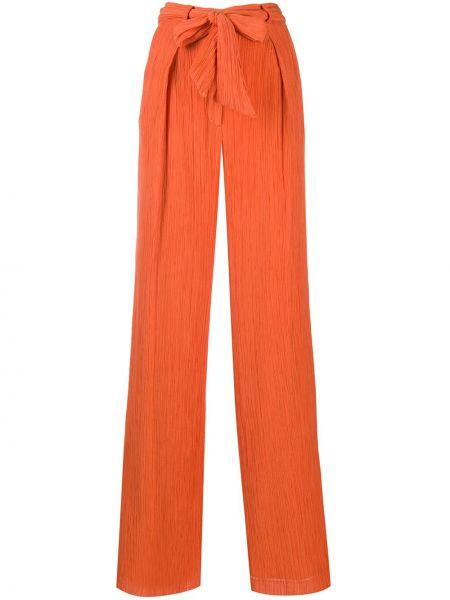Pomarańczowe spodnie z wysokim stanem bawełniane Gabriela Hearst