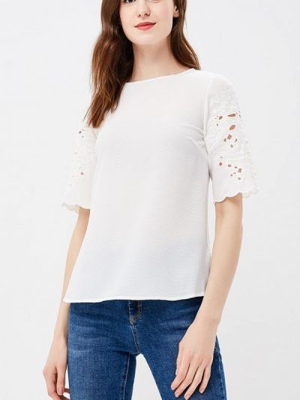 Белая блузка с короткими рукавами Dorothy Perkins