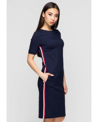 Повседневное платье весеннее синее A-dress