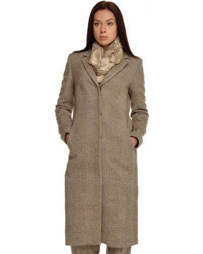 Шерстяное пальто с капюшоном Bally