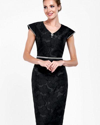 Платье осеннее черное Alisia Fiori