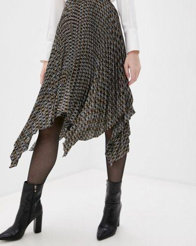 Плиссированная черная юбка снежная королева